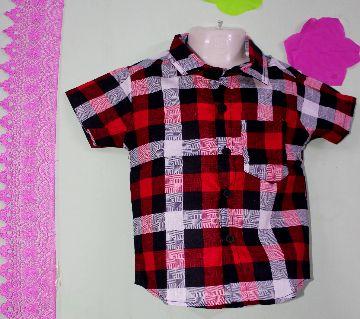 Cotton fabric Baby check Shirt