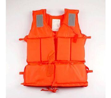 Life Jacket Orange Prevention Flood Fishing Rafting Drift Adult Survival in Life Vest