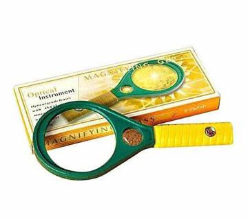 90mm Magnifying Glass 3x and 6x - Green and Yellow