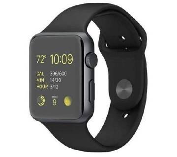 A-1 Bluetooth Smart Watch Phone with Pedometer Camera Single SIM - Black