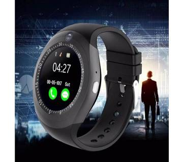 Y1S Bluetooth Smart Watch with Camera Pedometer - Black