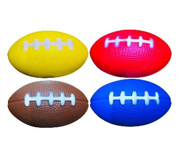 Rugby Ball Squishy Stress Relief Ball-4 pcs