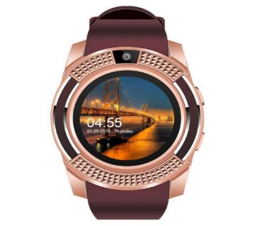 V8 Smart Watch For iOS and Android Mobile (SIM Supported)