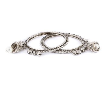 Silver Colour Bangles For Women
