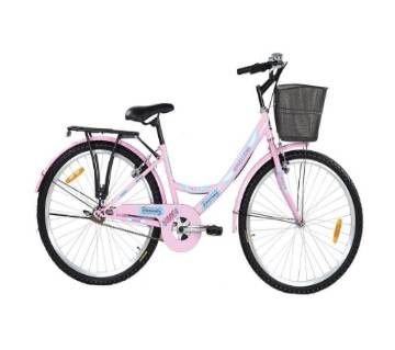 Duranta CB Angellina Ladies S Spd 26 inch Bicycle with Basket (Pink) - 804453