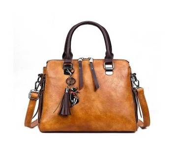 Women PU leather handbag, shulder bag (1828) Brown