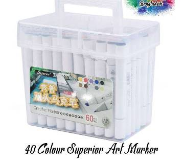 Superior Art Marker  40 Colours Set