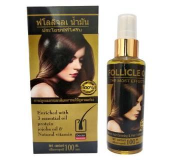 Follicle Hair Oil, 100ml  ( Made In Thailand)
