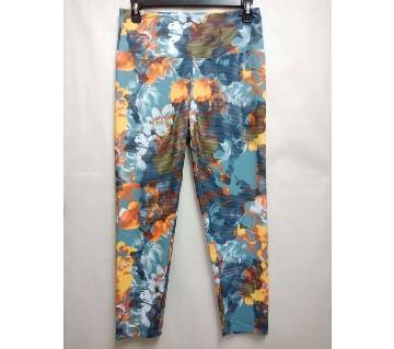 Women Printed Cotton and Elastane Leggings/Yoga Pant