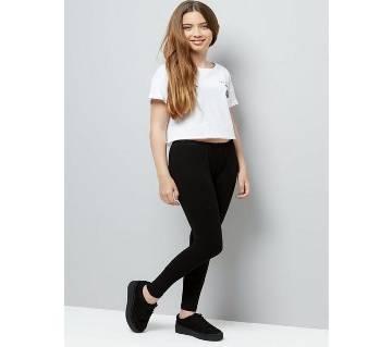 Girls Comfortable Viscose Spandex Leggings Black