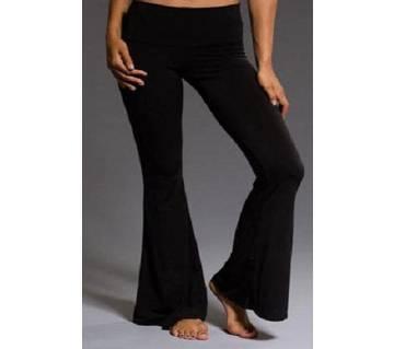 Adult Girls/Women Casual High Waist Bell-Bottom Loose Solid Elastic Waist Flare Pants