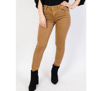 Ladies Fashionable Colored Skinny Twill pant