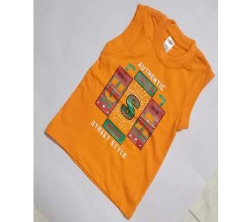 Boys Printed Fancy Sleeveless T-Shirt For Summer