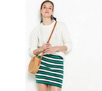 Striped short skirt for women