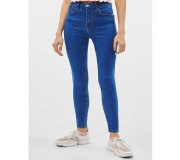 High Waist Skinny Branded Jeans For Woman