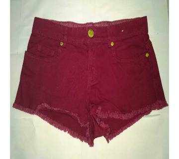 Ladies Colorful Denim Shorts