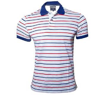 M&S Branded Yarn Dyed Polo Shirt For Men