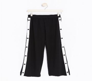 Wide Trousers with Buttons For Teen/Ladies