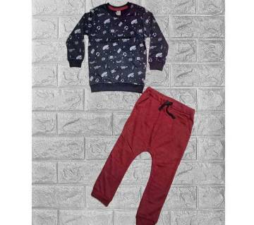 Kids Baby Boys/Girls Sweatshirt Tops & Pants Trousers Outfits Set For Winter