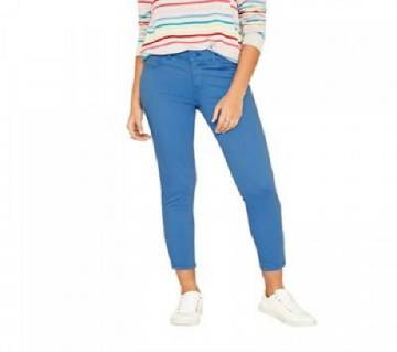 Ladies Fashionable Oasis Blue Colored Skinny Twill pant
