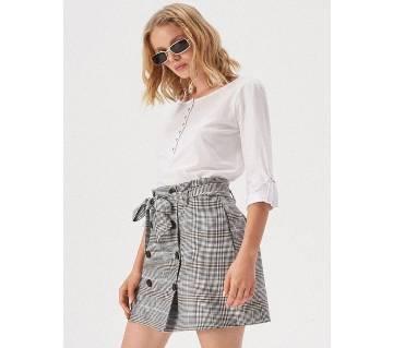 Cotton buttoned blouse/ Ladies tops