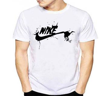Half Sleeve Cotton T Shirt Nike