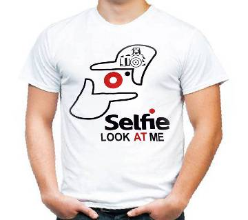 Half Sleeve Cotton T Shirt Selfie