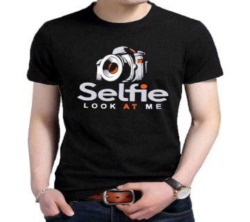 Selfie Men Half Sleeve Cotton T-shirt