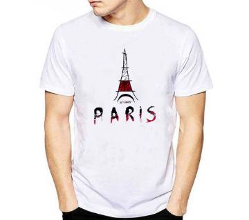 Paris Half Sleeve Cotton T Shirt