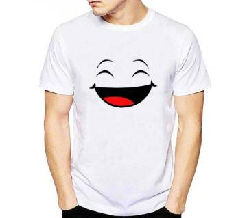Smiley Half Sleeve Cotton T Shirt
