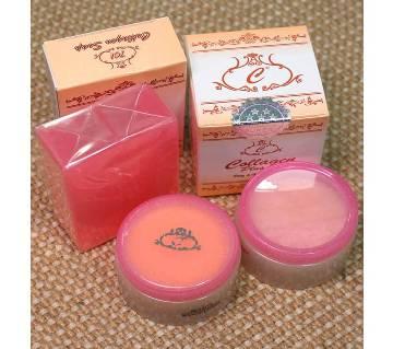 Collagen Plus Whitening Vit E Full Set (Day Cream, Night Cream, and Soap) Thailand