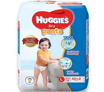 Huggies Dry Pants Diaper- (9-14 kg)- L- (52 pcs, Malaysia)