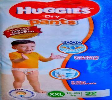 Huggies Dry Pants Diaper- (15-25 kg)- XXL- (32 pcs, Malaysia)