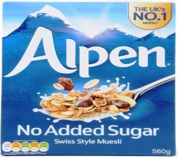 Alpen No Added Sugar Swiss Style Muesli- 560gm- UK