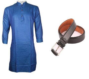 Semi Long Punjabi + Mens formal belt Combo