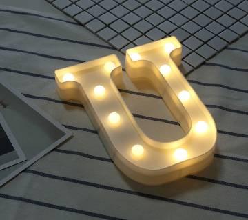 3D LED U letter Sign Table Lamp