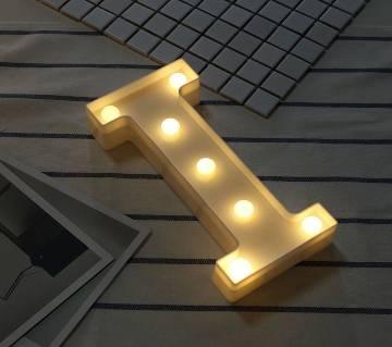 3D LED I letter Sign Table Lamp