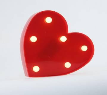 3D LED Heart letter Sign Table Lamp
