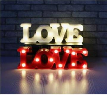 3D LED Love letter Sign Table Lamp