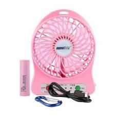 Mini USB Rechargeable Portable Fan - Pink