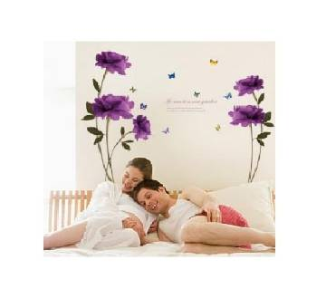 Wall Sticker,Purple Flower Wall Sticker