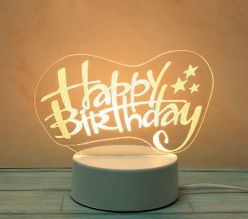 3D LED Decoration Lamp Happy birthday