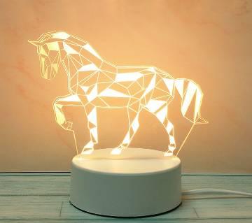 3D LED Decoration Lamp horse