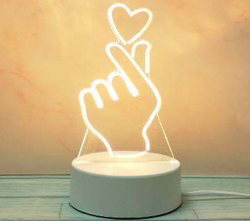 3D LED Decoration Lamp love