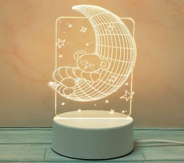 3D LED Decoration Lamp moon