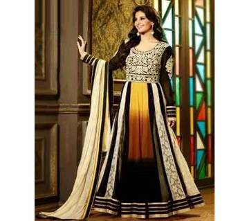 Semistichied Indian Georgette Embroidered Design Long Party Suite (Copy)