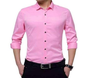 Pink Long Sleeve Casual Shirt for Men
