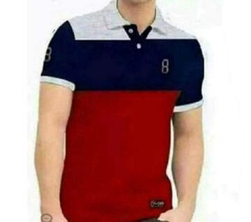 Polo T-shirt For Men  Navy Blue, Ash And Maroon Combination