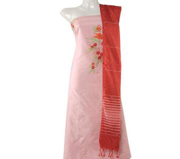 Unstitched Handloom Silk Three Pcs