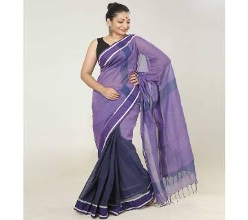 Violet Color Handloom Cotton Saree
